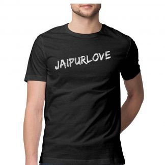 Buy JaipurLove branded Black Tshirt men front