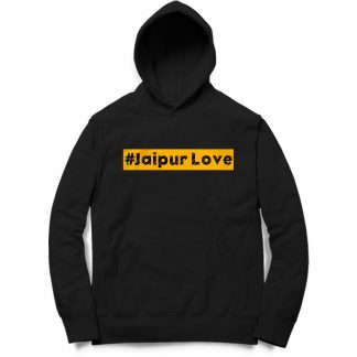 Buy Black Branded Hoodie Music JaipurLove