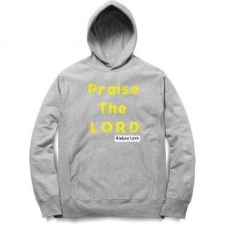 Buy Melange Grey Branded Hoodie Praise The Lord