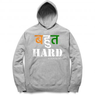 Buy Melange Grey Branded Hoodie Bahut Hard