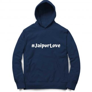 Buy #JaipurLove Navy Blue Branded Hoodie (Unisex)