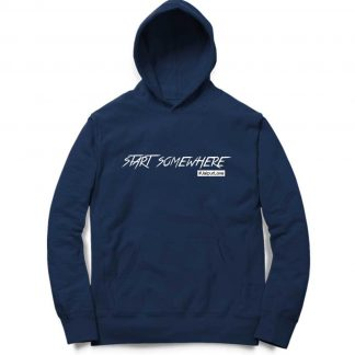 Buy Navy Bue Hoodie Start Somewhere