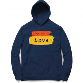 Buy Navy Blue Branded Hoodie Colored JaipurLove