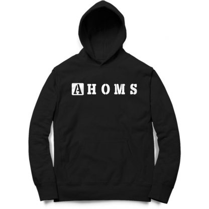Buy Black Branded Hoodie Ahoms