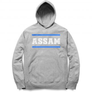 Buy Melange Grey Branded Hoodie Assam